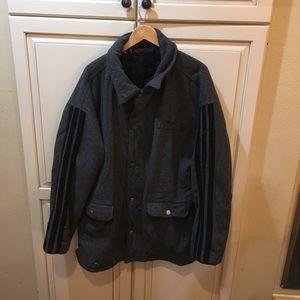 Vintage 90s adidas wool jacket coat L